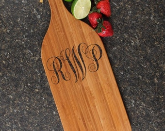 Personalized Cheese Board, Personalized Wedding Gift, Monogram, Engraved Cutting Board, Bamboo Cutting Board, Housewarming Gift-16 x 5 D1