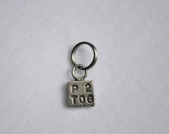 P2TOG Purl 2 Together Knitting Stitch Marker knitpurletc