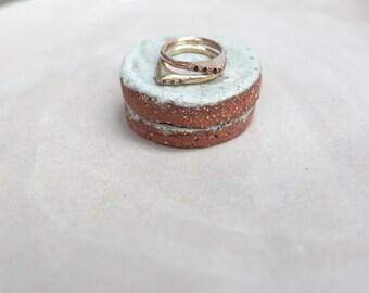 Crescent Trinity Ring