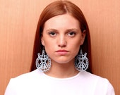 GULARTE leather earrings (bordeaux color)