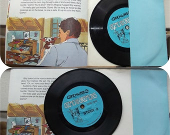 """Vintage 80s Record & Book 