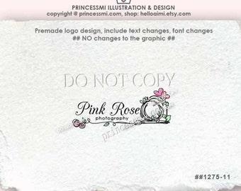 1275-11 Photography logo / Custom Premade Logo Design - doodle camera logo design photography watermark by princessmi