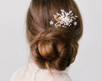 Alexa Bridal Hair Comb Silver and Gold Wedding Hair Piece