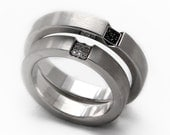 Bowen's special order     Sterling silver and white diamonds ring set