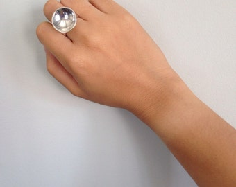 Space Satellite Ring // Sterling Silver Statement Ring//SAMPLE SALE PRICE