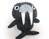 Felt Walrus - Mini Handsewn Animal Plushie