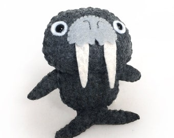 Felt Walrus - Mini Handsewn Animal Plushie