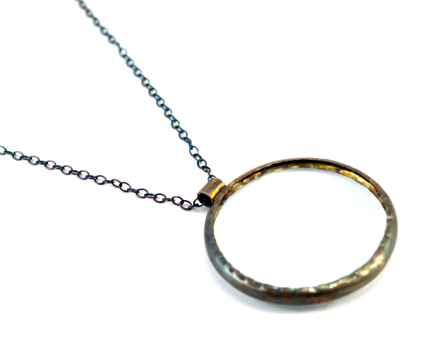 magnifying glass necklace sterling silver magnifier