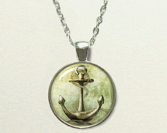 Nautical Anchor Necklace, anchor jewelry, nautical necklace, nautical jewelry, anchor pendant, nautical pendant, nautical gift, sailing
