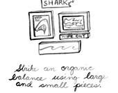 Shark Decor Wall Design Idea. Shark Kids Room Decor Beach Sign Shark Baby Nursery Beach House Shark Art Sign. Mangoseed by Christina Rowe