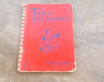 Junior League vintage cookbook, original version, Tried Treasures, Union, South Carolina, early 1950s, early Coca Cola ad