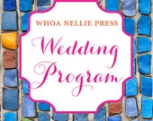 Wedding Program Balance - Special Listing for Kim