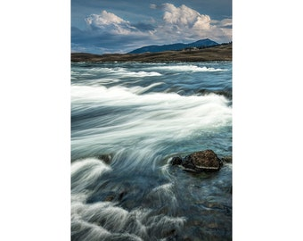 The Yellowstone River in Montana by the National Park No.281 Nature River Landscape Fine Art Photography