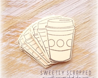 COFFEE CUP Embellishments ... Small, Blank, DIY, Scrapbooking