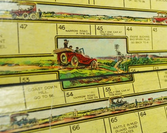 Vintage Auto Racing Board Game Model T Ford game