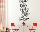 Acts 2:46 bible verse wall decal calligraphy style inspirational quote hand lettered - they broke bread