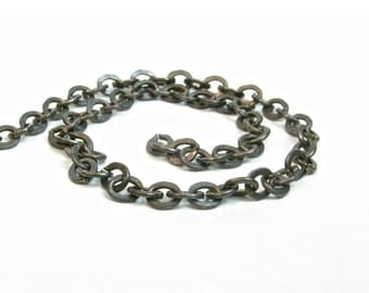 Vintaj 3.5mm x 4mm Cable Chain - Natural Brass