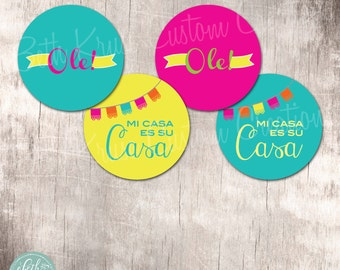 Fiesta Party 2 inch Circles Instant Download by Beth Kruse Custom Creations