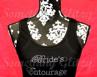Bride's Entourage Chic Rhinestone Tank Top, Bride's Entourage Tee, Bridal Entourage, Bride's Entourage shirt, Bachelorette Party, Team Bride