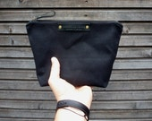 Toilet bag in waxed canvas / shaving bag / toiletries bag