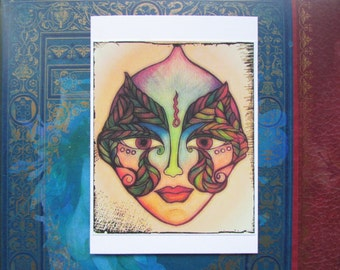 Leafy Eye Greeting card Elven