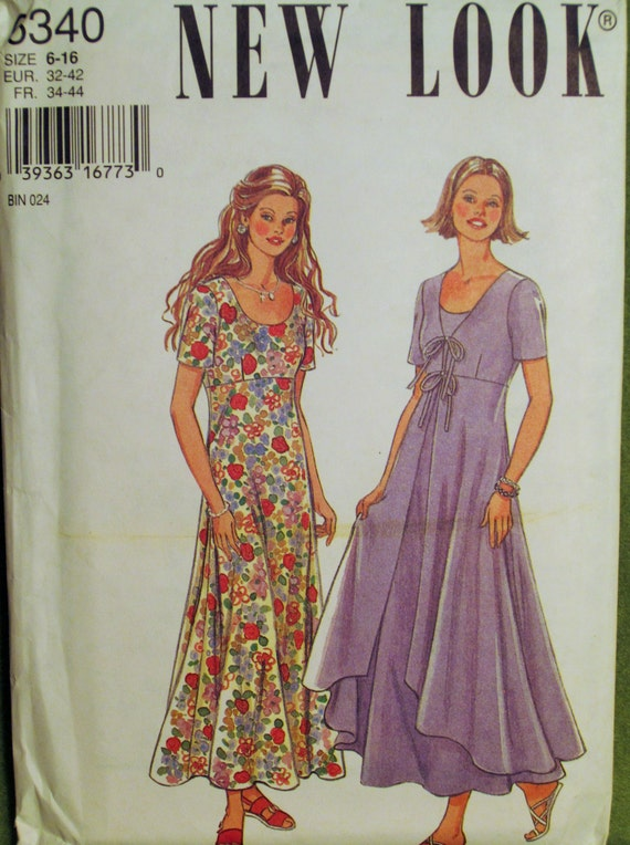 1995 New Look Pattern 6340 Misses Dress Six Sizes In One Size
