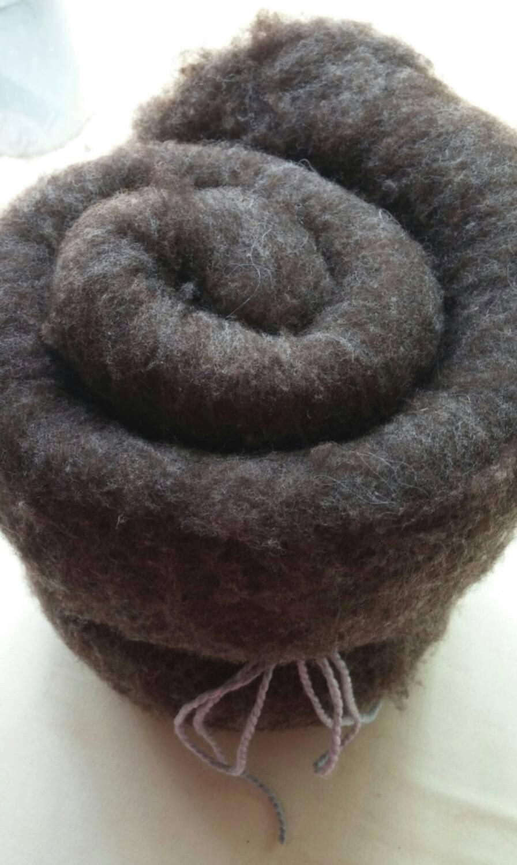 Natural colored wool batt batting certified organic great for Fiber batt