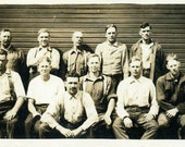 "Vintage Photo ""The Working Class"" Snapshot Photo Old Antique Photo Black & White Photography Found Photo Paper Ephemera Vernacular - 112"