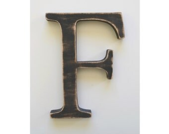Letter F - wooden letter - 8 inch wooden letters