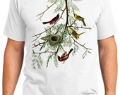 Orchard Oriole Bird Retro Men & Ladies T-shirt - Gift for Bird Lovers and Ornithologist (idc042)
