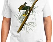 Pine Creeping Warbler Bird Retro Men & Ladies T-shirt - Gift for Bird Lovers and Ornithologist (idc140)