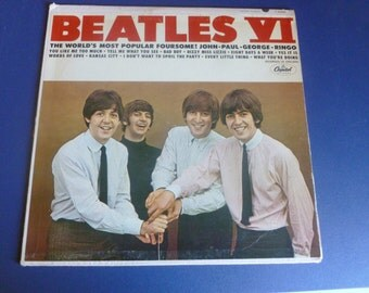 Beatles VI Vinyl Record LP T2358 Mono Recorded in England Capital Records