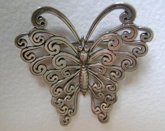 Sterling butterfly brooch              VJSE