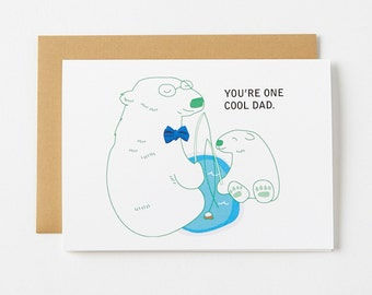 Cool Polar Bear Father's Day Greeting Card