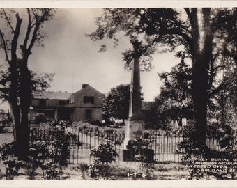 Family Burial Ground- 1940s Vintage Photograph- Grave of Sam Davis- Cemetery - Smyrna,Tennessee- Real Photo Postcard- RPPC- Paper Ephemera