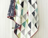 Road 15 Baby Quilt - Crib Quilt - Small Lap quilt - READ TO SHIP