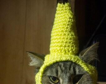 Custom Crochet Banana Hat for your Pet -- Custom Order -- Cat, Small Dog, Kitten Fruit Costume