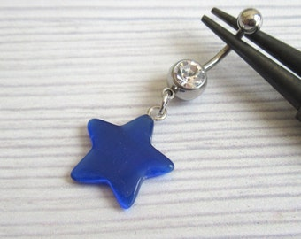 Belly Button Ring - Navel Ring - Belly Ring - Belly Button Jewelry - Navel Jewelry - Body Jewelry - Navel Pierceing - Star Belly Ring