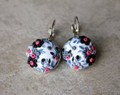 Polymer Clay Applique Floral Earrings