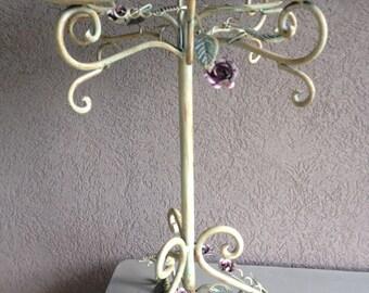 Vintage Tole Candelabra Tabletop Metal Candle Wedding Centerpiece - #1793
