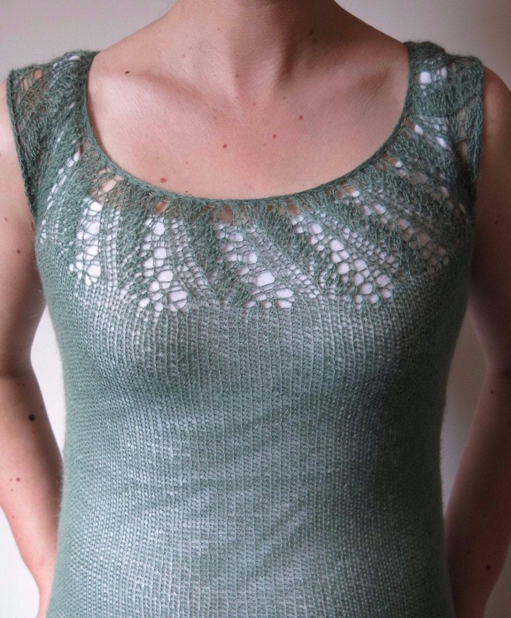 PATTERN Lace Tank Knitting Pattern Pdf/ Lace T-Shirt Knitting ...