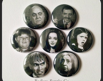 """The Addams Family 1"""" Button Choose Your Own"""