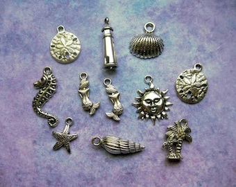 Beach Charm Collection in Silver Tone - C2164