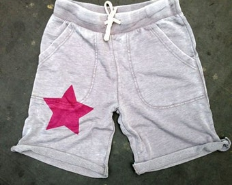 make your mark Star Shorts, Cutoff Shorts, Boyfriend Shorts, S,M,L,XL