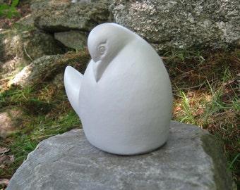 Dove Statue, Contemporary Bird Concrete Figure, Cement Garden Decor
