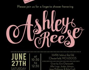 Bridal Shower Invitation, Lingerie Bridal Shower, Bridal Shower Invite, Flower Invitation, Made to Match