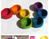 Rainbow bowls / marriage favor / gay pride / eco friendly decor / Jewelry bowl / set of seven