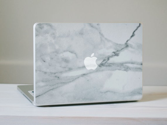 Marble MacBook Decal - Genuine Marble Vinyl Laptop Skin