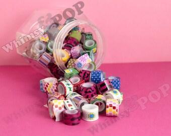 10 - Tiny Rolls Mixed Random Designs Deco Tape, Deco Tape , Crafts DIY Decoration, 12mm (C1-22)