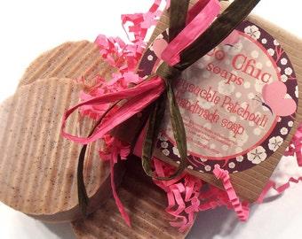 "Honeysuckle Patchouli Handmade Soap - Summertime Soap - Gardening Soap - Exfoliating Soap - ""Skin Friendly"" scrub"